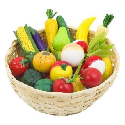 GOKI Zöldség-gyümölcs kosárban, 21 db-os