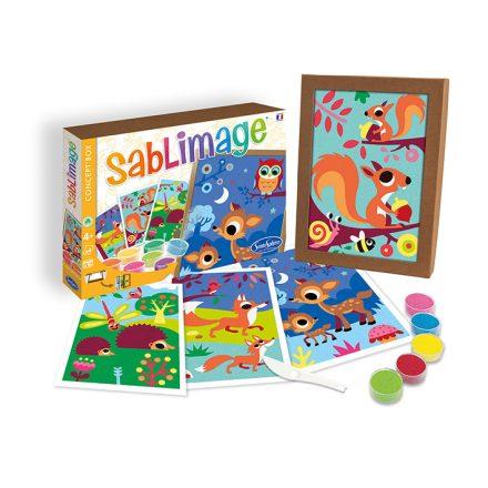 Homokszórós képek, erdei állatok, képkeretté alakítható dobozban - Sentosphere SA8801
