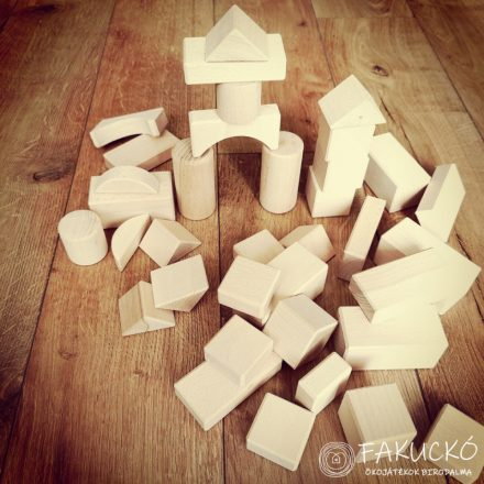 Építőkocka natúr 5 cm-es