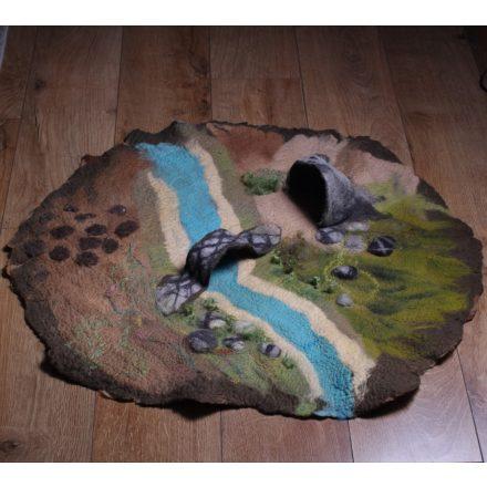 Merinói gyapjúból nemezelt játszószőnyeg