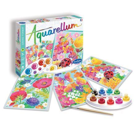 Aquarellum festőkészlet, színpompás virágok, nagy - Sentosphere SA6391